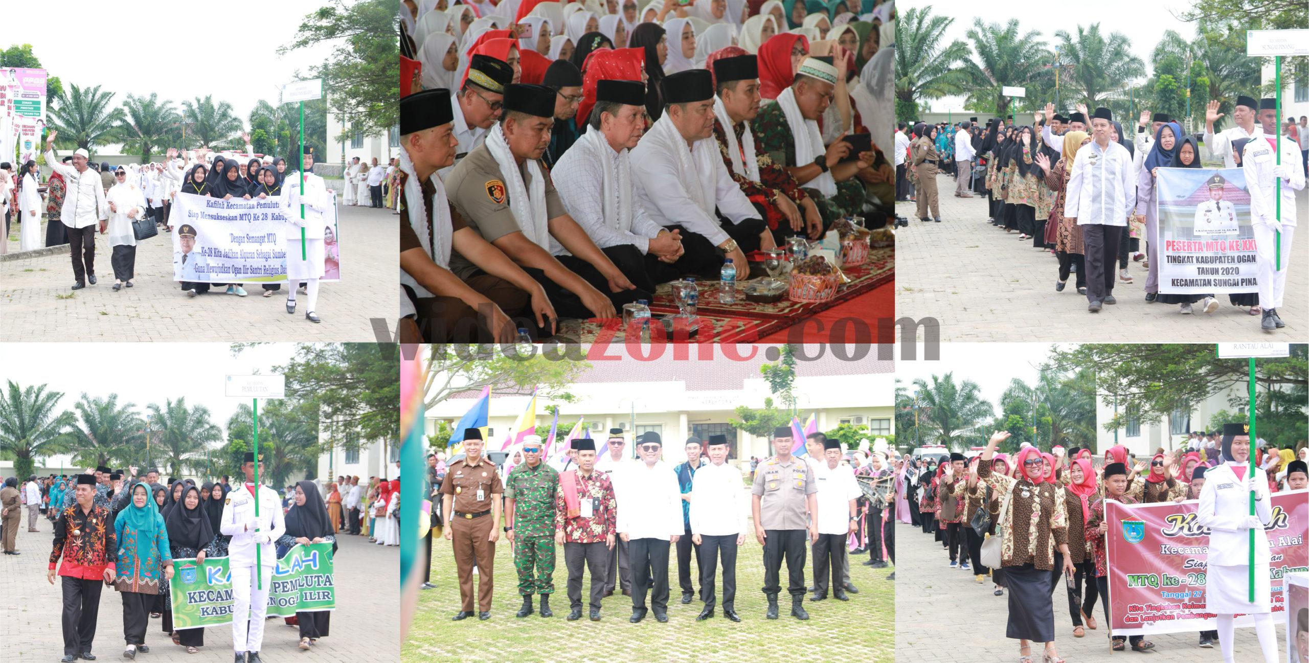 Rangkaian kegiatan Musabaqoh Tilawatil Quran (MTQ) tingkat kabupaten ke XXVIII (28) digelar i Gedung Serbaguna Komplek Perkantoran Terpadu (KPT) Pemerintah Kabupaten (Pemkab) OI Tanjung Senai, Senin (27/1/2020)