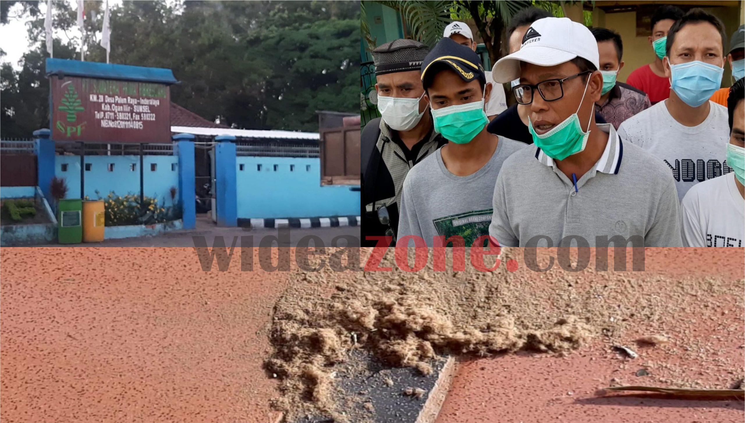 Warga Taman Gading Ogan Ilir Keluhkan Limbah Debu PT SPF