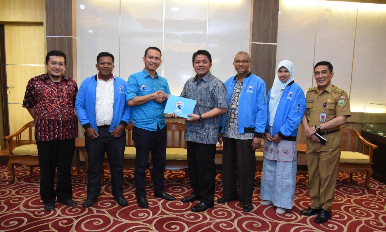Pengurus Partai Gelora Indonesia Silaturahmi ke Gubernur HD