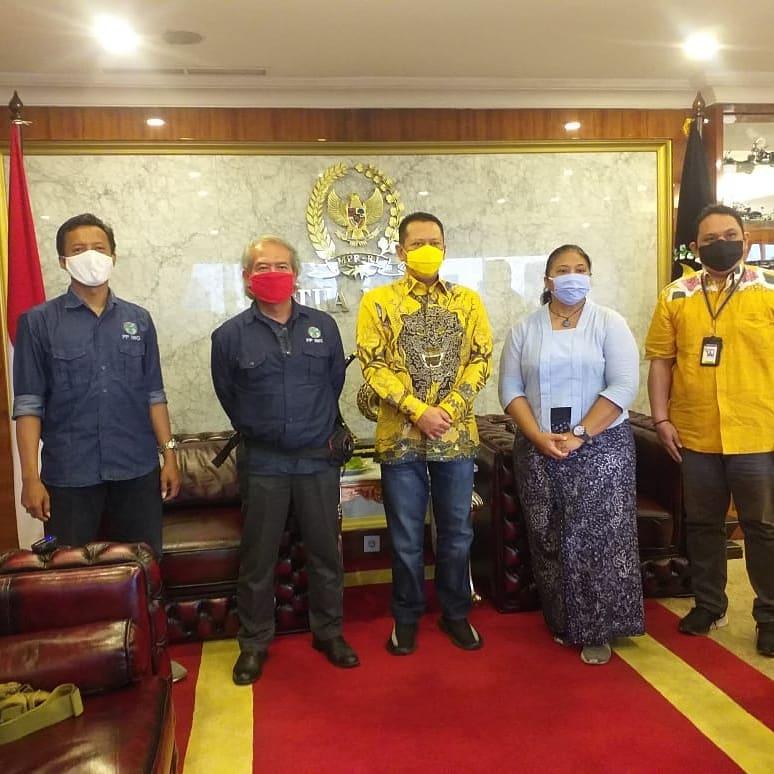 Ketua PP IWO Jodhi Yudono bersama Ketua MPR Bambang Soesatyo