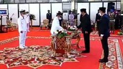 Devi-Inayatullah Resmi Dilantik sebagai Bupati dan Wabup Muratara