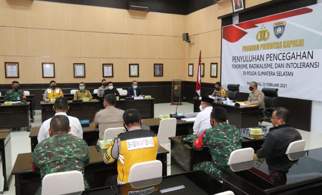 Kepolisian Daerah Sumatera Selatan (Polda Sumsel), merupakan 1 dari 14 Polda yang mendapatkan agenda Penyuluhan Penanggulangan Terorisme, Radikalisme, dan Intoleransi dari Mabes Polri.