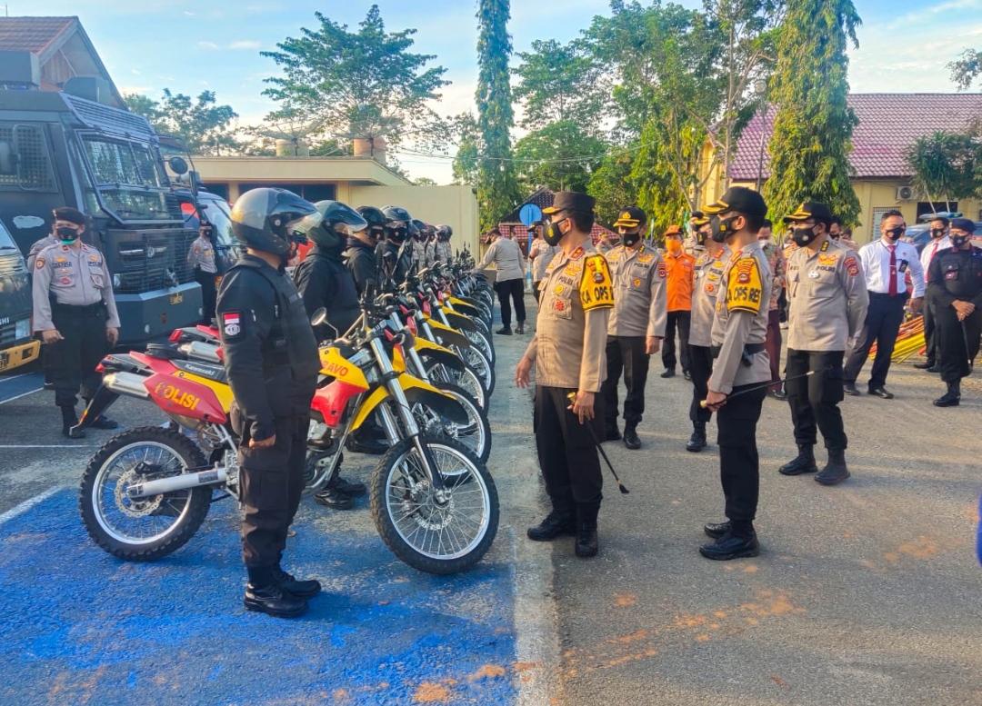 Kapolda Sumsel Irjen Pol Prof Dr Eko Indra Heri MM melakukan kunjungan kerja ke Polres OKU Timur, Jumat (26/02/2021).