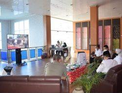 Bupati Ratna Ikuti Rakornas Penaggulangan Bencana secara Virtual
