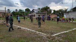 Olahraga Bersama, Pertandingan Voli Antar Satgas TMMD dan Warga Sungai Jawi