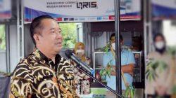 BUPATI Lahat Cik Ujang SH hadiri kegiatan launching kampung (Quick Response Code Indonesian Standart) QRIS kluster kuliner, di Sriwijaya Street Food, Kabupaten Lahat, Sumatera Selatan, Kamis (26/3/2021).