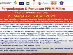 PPKM Mikro Akan Diperpanjang Hingga 5 April 2021
