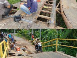 Sempat Ambruk, Kini Jembatan Penghubung 2 Desa Diperbaiki