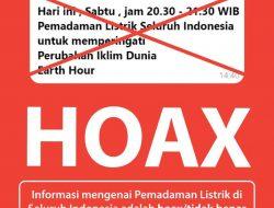 Earth Hour dan Isu Pemadaman, PLN Pastikan itu Hoax