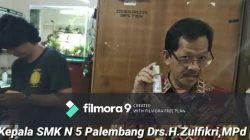 Bantu Pemerintah, SMKN 5 Palembang Sosialisasi Cairan Hand Sanitizer