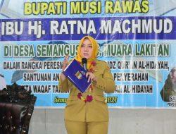 Bupati Ratna Machmud Resmikan Rumah Tahfidz Quran di Semangus