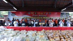 Direktorat Tindak Pidana Narkoba Bareskrim Polri dan Satgassus Polri berhasil mengungkap peredaran narkotika jenis Sabu seberat 2,5 ton asal jaringan Internasional Timur Tengah, Malaysia dan Indonesia.
