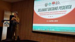 Dr Ahmad Najib yang mewakili Gubernur Sumatera Selatan dalam sambutannya mengucapkan selamat datang kepada seluruh kawan-kawan lingkup HIMAPOL Indonesia di kota Palembang