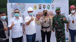 GM PLN UIWS2JB Bambang Dwiyanto, Kapolrestabes Palembang, Komandan Kodim 0418 Palembang, dan Kepala Dinas PUPRKP Palembang menghadiri Apel Siaga Amankan Pasokan Listrik sepanjang Ramadhan dan Lebaran