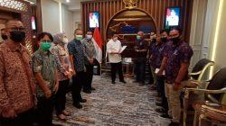 GUBENUR Sumatera Selatan H Herman Deru memberikan apresiasi dan support kegiatan Rapat Kerja Nasional Ikatan Wartawan Online (Rakernas IWO) akan dilaksanakan di Sumatera Selatan.