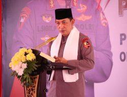Saat Peresmian Ponpes Tajul Falah Banten, Kapolri Dikalungi Sorban Putih