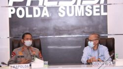 Kapolda Sumsel Irjen Pol Prof Dr Eko Indra Heri S MM menerima audiensi Direktur Human Resource & Community Affair (HR CA) PT Tanjung Enim Lestari Pulp and Paper (PT TELAH) Achmad Fauzan, bertempat di Ruang Promoter Lantai II Mapolda Sumsel, Kamis (15/04/2021)