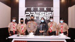 Kapolda Sumsel Irjen Pol Prof Dr Eko Indra Heri S MM menerima baik audiensi kegiatan PWN PTK ke XV Tahun 2021, Senin (19/4/2021).