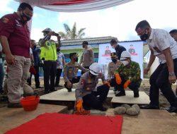 Kapolda Sumsel Lakukan Peletakan Batu Pertama Klinik Polres Lubuklinggau