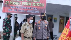 Kapolda Sumsel Bersama Pangdam II Sriwijaya Tinjau Posko PPKM Wilayah Palembang
