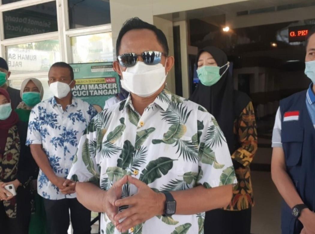 Menteri Dalam Negeri Tito Karnavian kala mengunjungi Palembang, Sumsel, Minggu (2/5/2021).