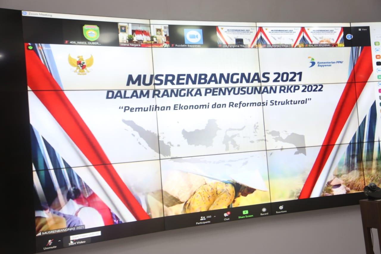 Wagub Mawardi Yahya Hadiri Musrenbangnas 2021 secara Virtual