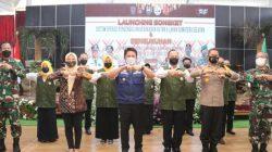 Gubernur Sumatera Selatan (Sumsel), H Herman Deru meluncurkan secara resmi aplikasi Digital Songket, di Griya Agung, Palembang, Jumat (7/5/2021) sore.