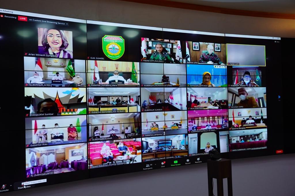 Rakor Pemanfaatan Bela Cegah Korupsi Pengadaan Barang Bersama Ketua KPK RI Kepala LKPP