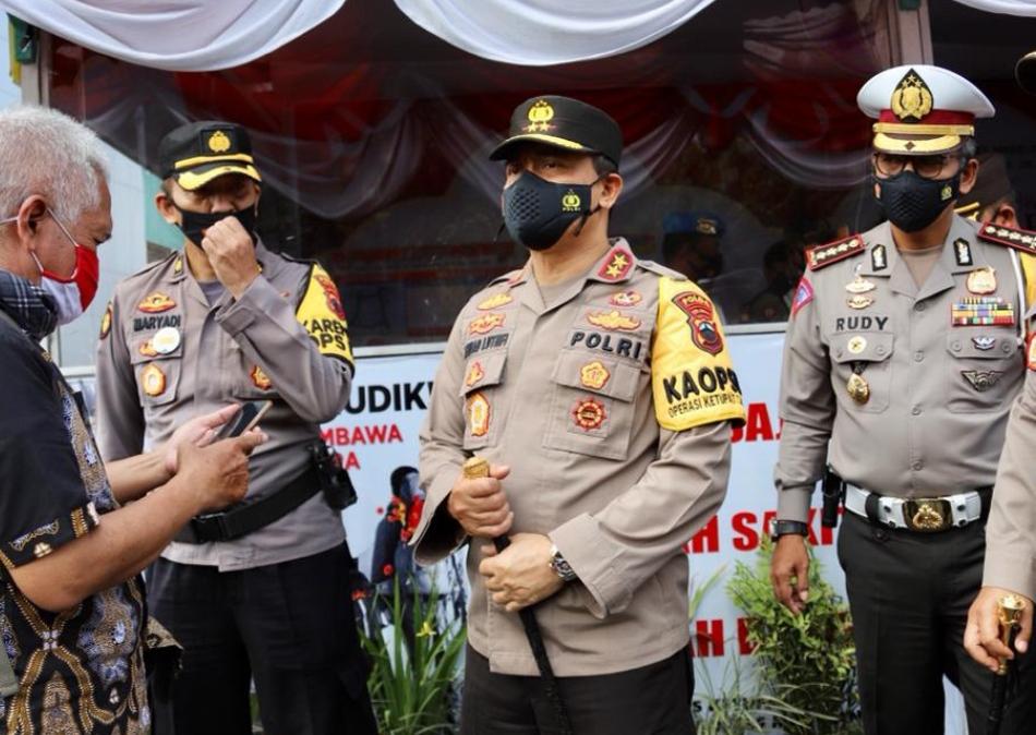 Kapolda Jateng Irjen Pol Ahmad Luthfi langsung mengecek kesiapan anggota Pospam di Mertoyudan, Kabupaten Magelang, Polres Magelang, di Hotel Artos Magelang, Jumat Siang (14/5/21).