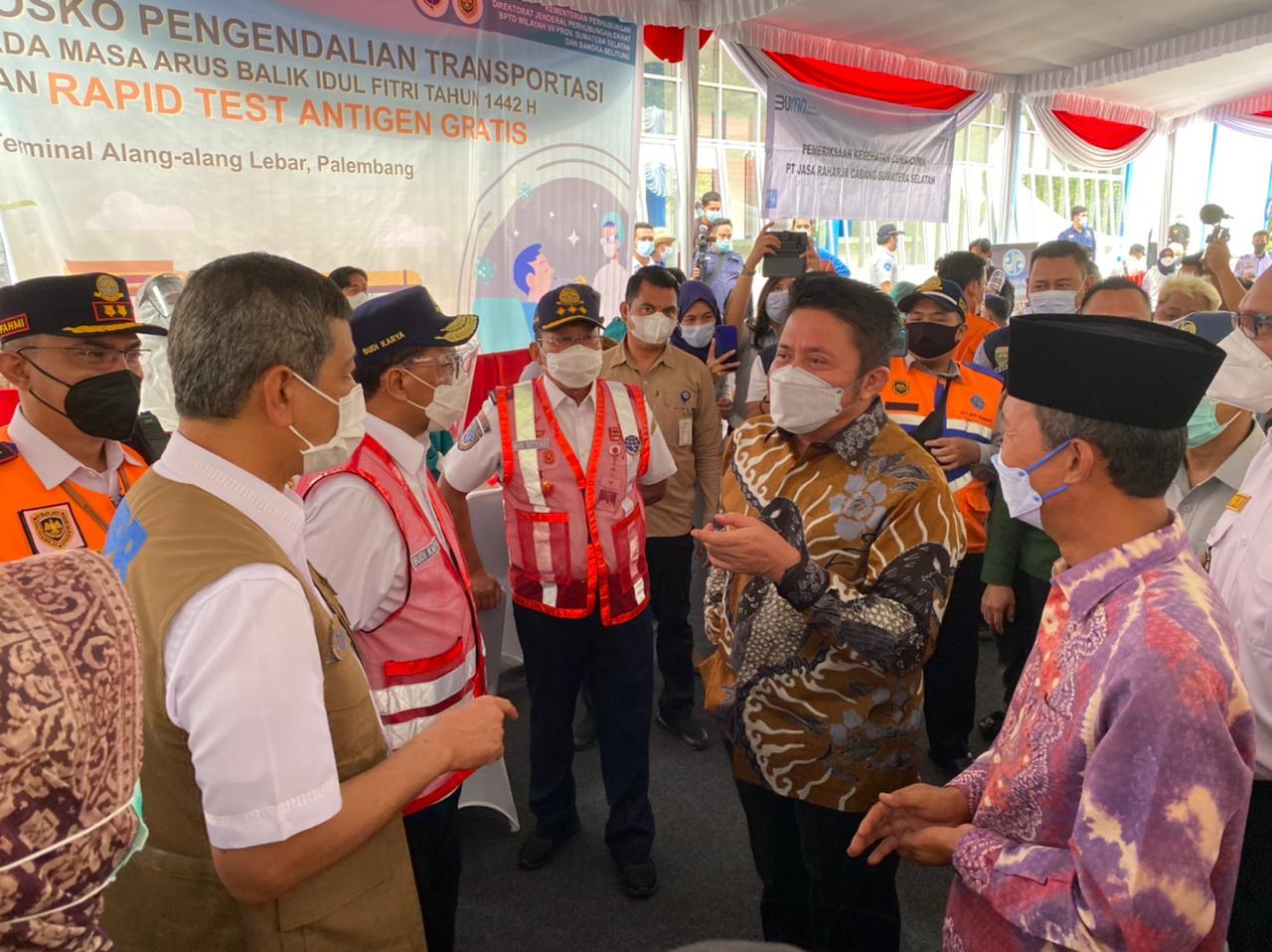 Menhub dan Kepala BNPB Pusat Puji Keseriusan Sumsel Turunkan Angka Penyebaran COVID-19