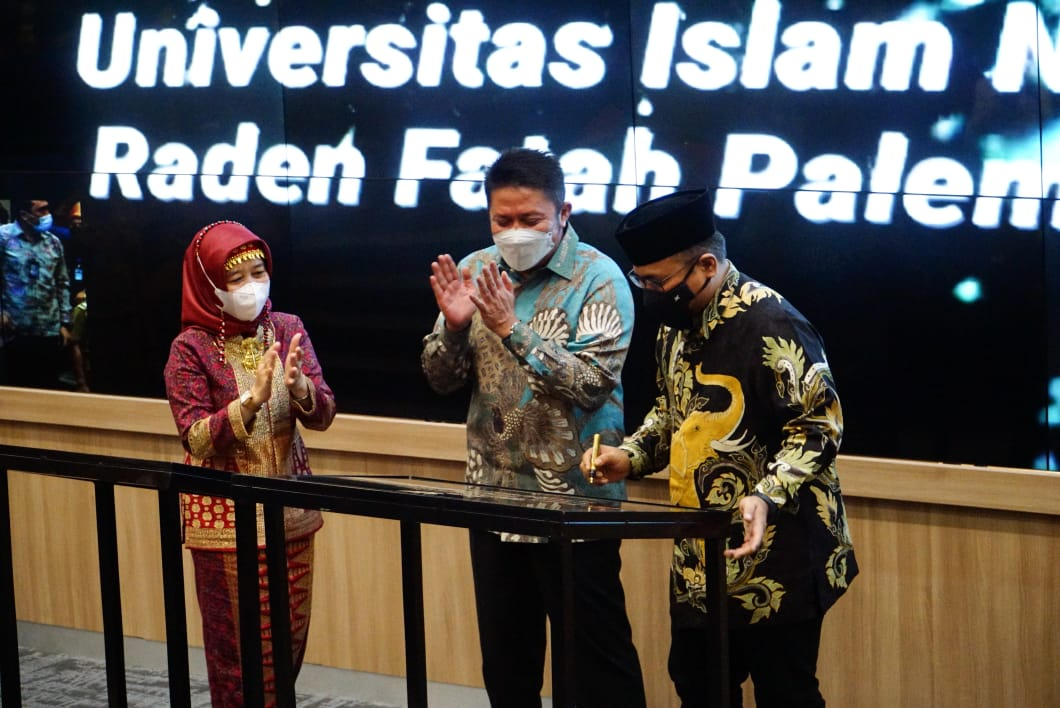 Menteri Agama (Menag) RI, Yaqut Cholil Qoumas memberikan apresiasi kepada Pemerintah Provinsi Sumsetara Selatan (Sumsel) atas sinergi yang telah dilakukan dengan Universitas Islam Negeri (UIN ) Raden Fatah Palembang.