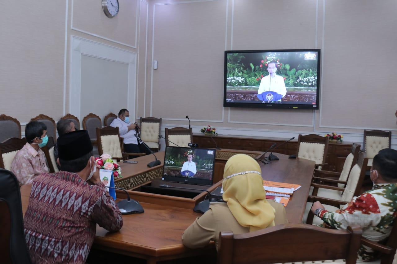 Walikota Harnojoyo Hadiri Pembukaan Musrenbangnas 2021 secara Virtual