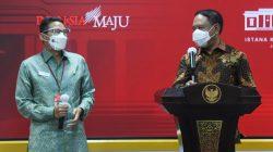 Menpora Zainudin Amali dan Menparekraf Sandiaga Uno memberikan keterangan pers usai Rapat Terbatas mengenai Persiapan Penyelenggaraan FIBA Asia Cup 2021 dan World Superbike 2021 Indonesia Grand Prix, Rabu (02/06/2021) siang