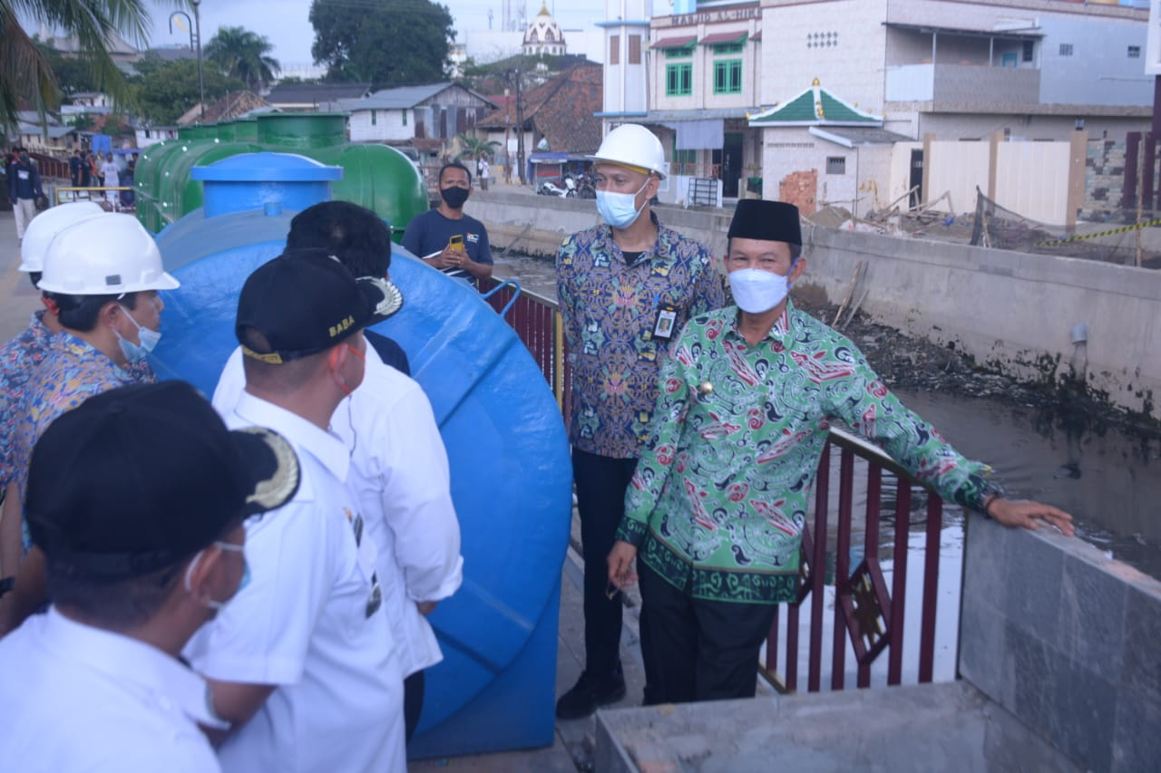 Walikota Palembang H Harnojoyo kembali meninjau progres pembangunan Sekanak Lambidaro.
