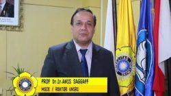 Rektor Universitas Sriwijaya (Unsri), Prof Dr H Anis Saggaf MSCE