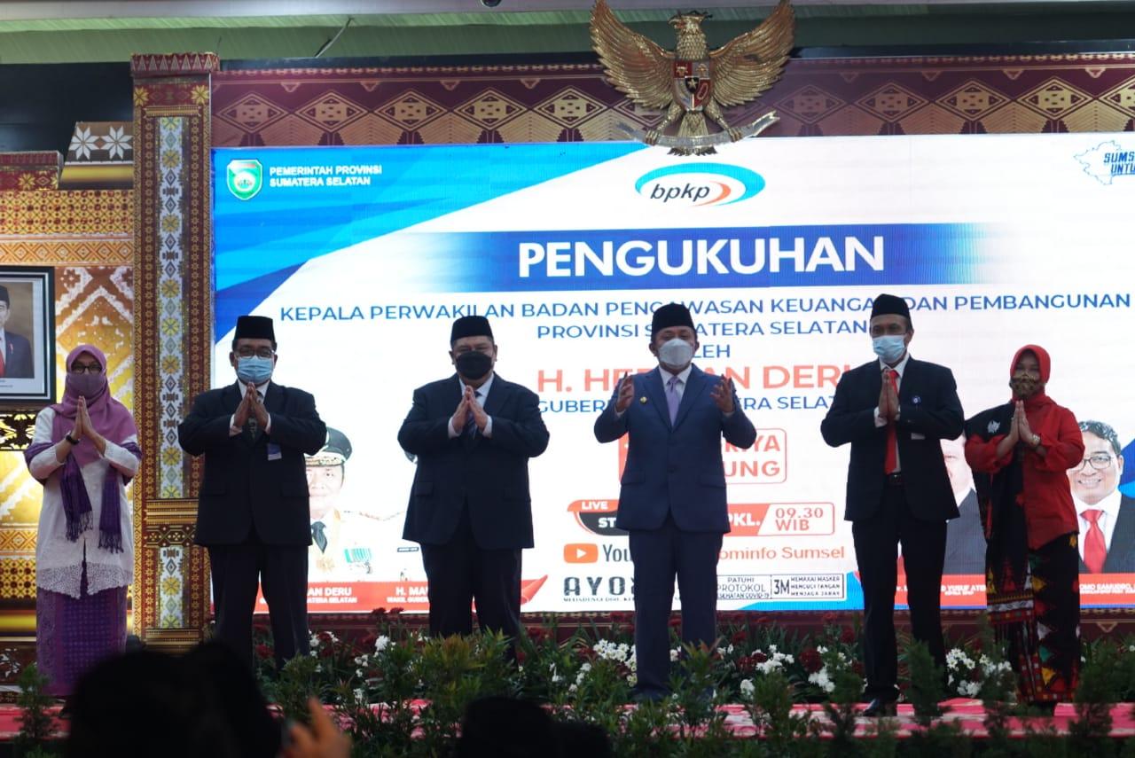 Gubernur Provinsi Sumatera Selatan (Sumsel), Herman Deru meminta Badan Pengawasan Keuangan dan Pembangunan (BPKP) Provinsi Sumsel untuk terlibat melakukan pengawasan penggunaan keuangan di Sumsel.