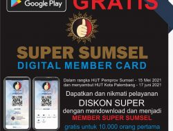 Solidaritas Pariwisata, Asfiudin: Download Super Sumsel