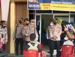 Terbang ke Linggau, Kapolda Sumsel Tinjau Penerapan PPKM Mikro