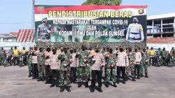 Kapolda Sumsel dan Pangdam Sriwijaya Distribusikan Bansos ke Polres-Kodim