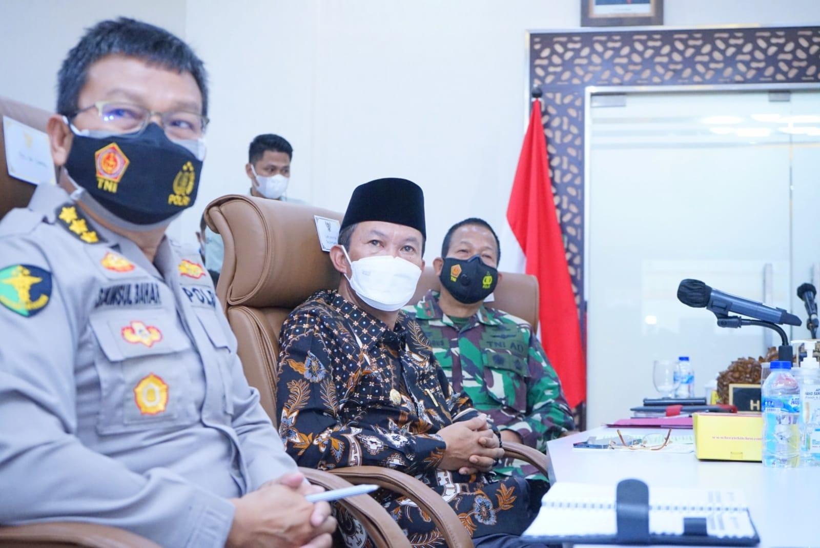 Walikota Palembang H Harnojoyo juga hadriri rakor evaluasi PPKM