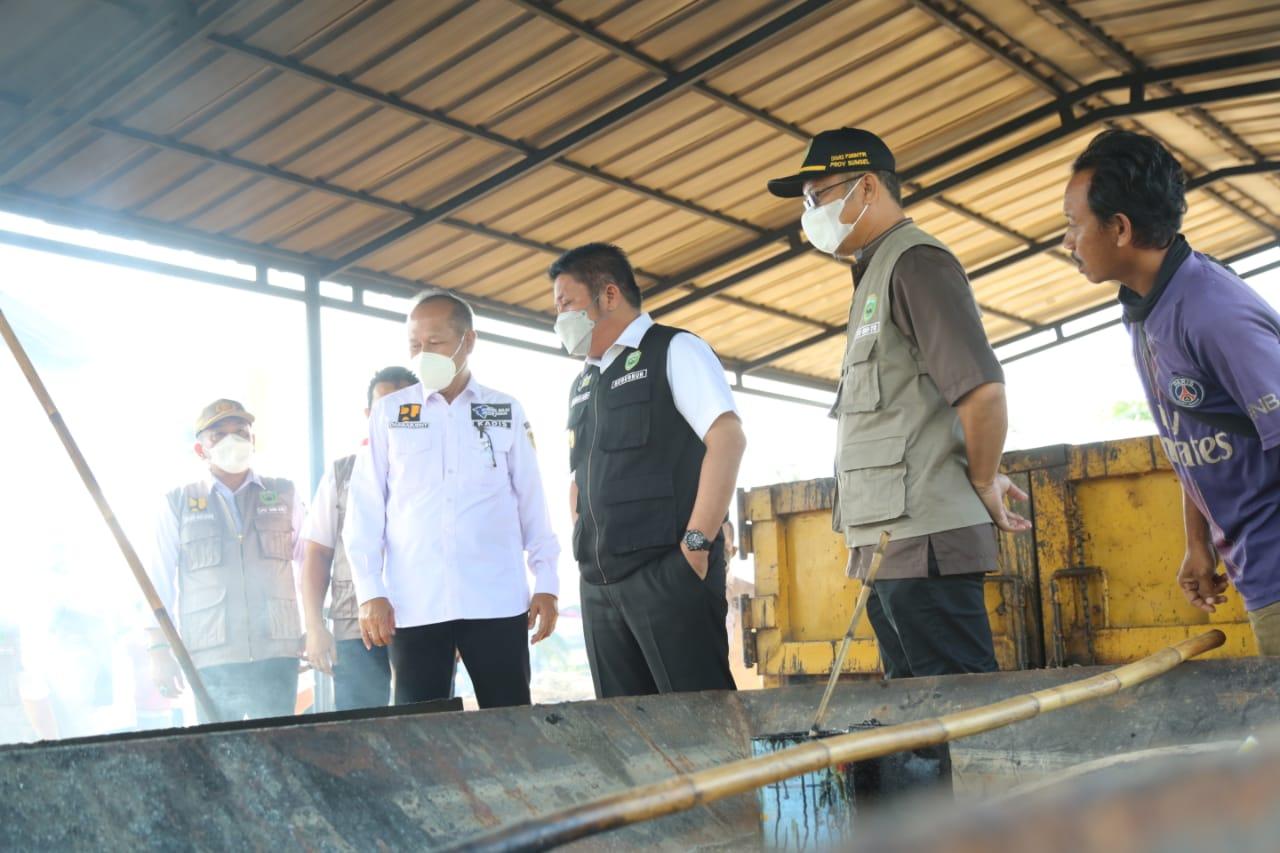 Gubernur Sumsel Resmikan Pusat Brigade Alat Berat dan Pembuatan Aspal Panas