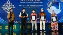 Gubernur Sumsel H Herman Deru membuka Syariah Festival Sriwijaya 2021