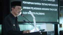 Walikota Palembang H Harnojoyo sampaikan PPKM Mikro diperpanjang hingga 25 Juli mendatang saat rapat Paripurna ke-10