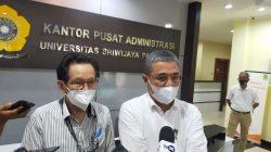 Ketua Panitia UTBK USMB Unsri Prof Dr Zainuddin Nawawi dan Humas UTBK USMB Unsri Prof Zulkifli Dahlan