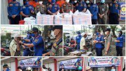 Satuan Polisi Pamong Praja (Sat Pol PP) dan Pemadam Kebakaran (Damkar) Provinsi Sumsel menggelar aksi sosial Jumat (23/7)