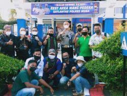 Silaturahmi Kasat Lantas dengan PWI Musi Banyuasin