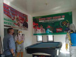 PMI Muba Lakukan Penyemprotan Disinfektan di Sekretariat PWI