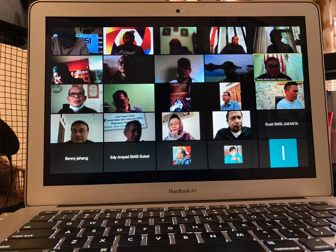 Rapat pleno Serikat Media Siber Indonesia (SMSI), Rabu (28/7)