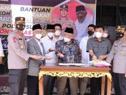 Kapolda Bersama MUI Sumsel Terima Bantuan dari Abdul Halim