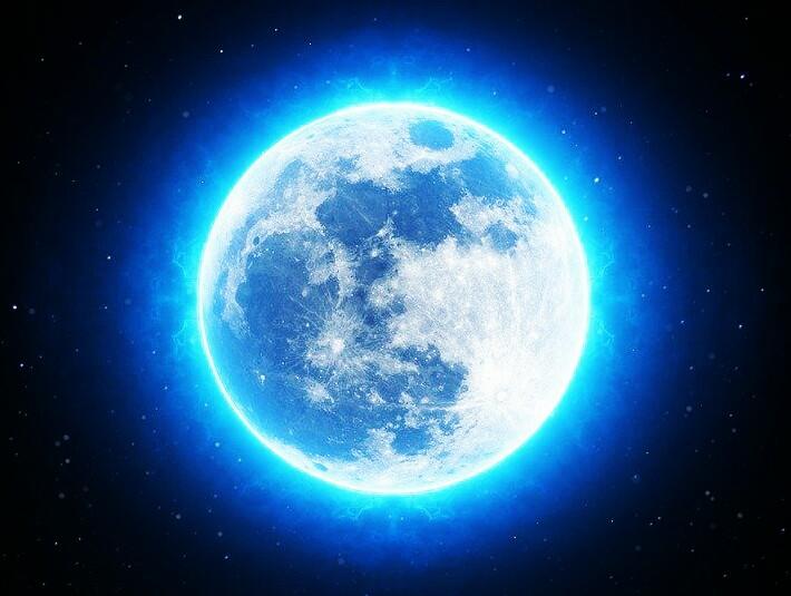 Ilustrasi Blue Moon atau Bulan Biru (photo Ist)